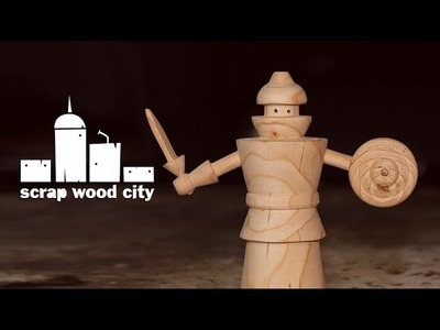 DIY pallet wood toy warrior on the lathe