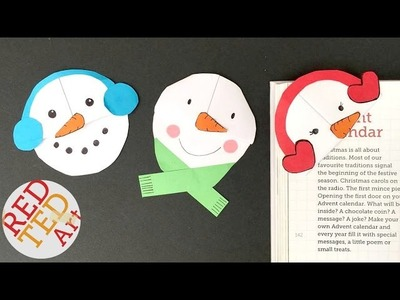 Easy Snowman Bookmarks - Easy Paper DIYs for Christmas