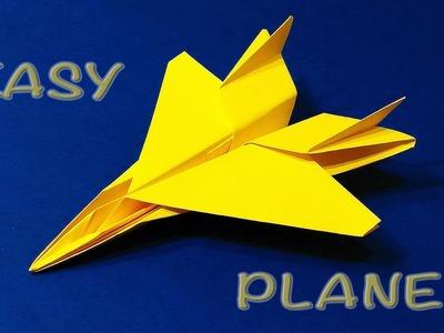Origami F 15 Jet Easy tutorial. Paper Plane F15 . Flying model. (Remake)
