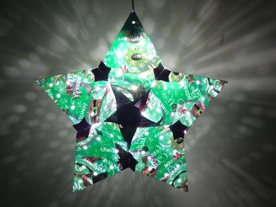 Paper Crafts(Home.Christmas Decoration Ideas): Christmas Star Lantern