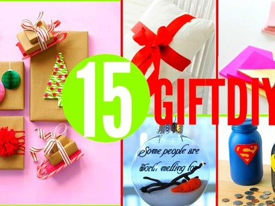 15 DIY Christmas GIFTS !! DIY Gifts You NEED To Know !!