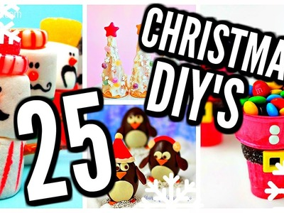 25 DIY Christmas Treats! Holiday Desserts, Cookies, Recipes, Food