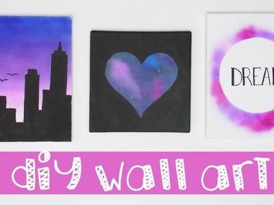 3 DIY WALL ART Designs Using An Air Brush!