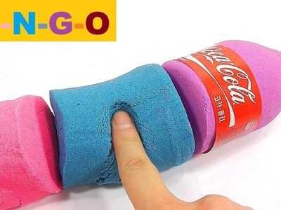 BINGO Song | DIY How To Make Glitter Colors Kinetic Sand Coca Cola Learn Colors Jelly Slime Icecream