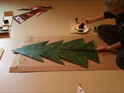 DIY: cardboard christmas tree