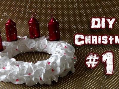 DIY Christmas #1 - Advent wreath ( Adventní věnec ) 2016 | Tom Hatrik