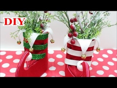 DIY Crafts: Christmas Decorations.Ornaments Ideas or Gift with Felt Foam and Plastic Bottles