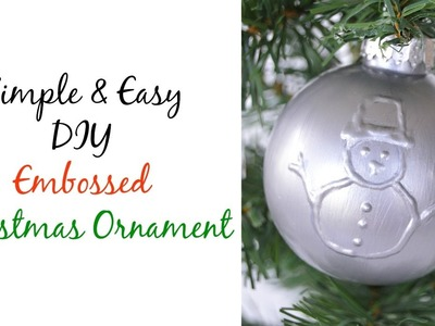 DIY Embossed Christmas Ornament using puffy paint