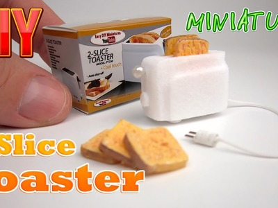 DIY Miniature 2-Slice Toaster with box ● No  Polymer Clay!
