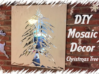 DIY Mosaic Christmas Tree | Holiday Decor Idea!