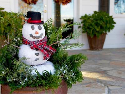 DIY Pumpkin Snowman. Garden Answer