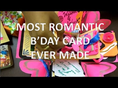Handmade Birthday Cards | DIY | Explosion box | Pop-ups and sliding included