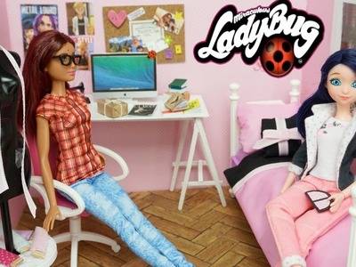 Miraculous Ladybug Marinette DOLL Bedroom +  Easy DIY Custom Alya Volpina Doll