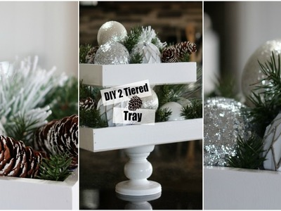 2 Tiered Tray | Christmas DIY❄️