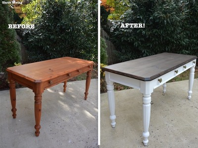 A 1980's DIY Desk Makeover Using Beyond Paint and Stain - Thrift Diving