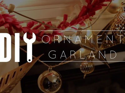 DIY Christmas Decorations. Ornament Garland