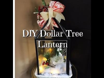 DIY Dollar Tree Holiday Lantern How-To