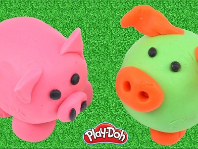 DIY How To Make Pigs With Play Doh Creative Fun Stop Motion