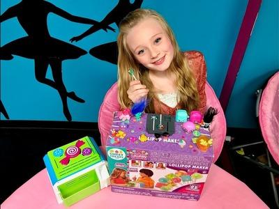 DIY lollipop candy maker how to make real lollipops and huge blind bag toy haul w. Princess Ella