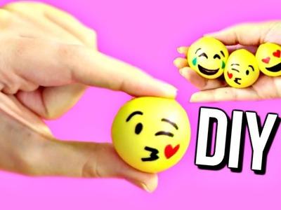 DIY MINI EMOJI STRESS BALLS! How To Make Stress Balls | Courtney Lundquist