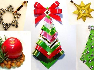 Easy DIY Christmas tree! Paper Christmas tree - Ribbon Christmas tree!