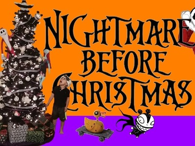 TREE DECORATING JACK SKELLINGTON NIGHTMARE BEFORE CHRISTMAS DIY DECORATIONS ORNAMENTS & TSUM TSUM