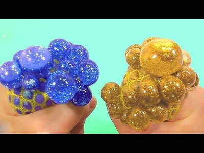 BINGO DIY How To Make Glitter Powder Stress Ball Balloons Learn Colors Pez Toy | Nursery Rhymes Song