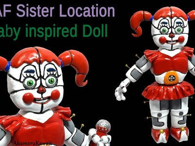 "Circus ""Baby"" Doll - FNAF Sister Location inspired Polymer Clay Tutorial (Five Nights at Freddy's)"