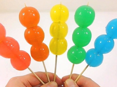 DIY How To Make Colors Skewered Gummy Pudding Learn Numbers Counting Baby Doll Bubble Finger Family