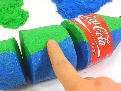 DIY How To Make Glitter Colors Kinetic Sand Coca Cola Learn Colors Icecream | Johny Johny Yes Papa