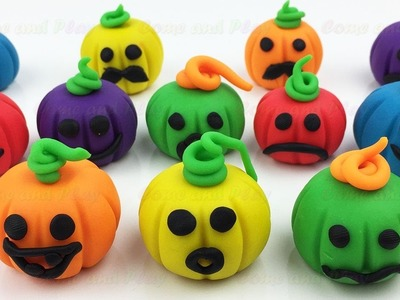 DIY How to Make Play Doh Hallowen Pumpkin and Animal Molds Fun for Kids