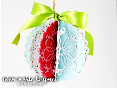 Paper Folded Scallop Ornament + Simon December Card Kit