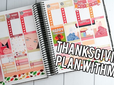 Thanksgiving Plan With Me ft. Gilmore Girls kit from Pretty on Paper Co!. Creating&Co