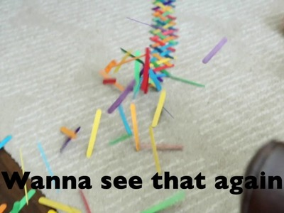 Build a Chain Reaction with Craft Sticks