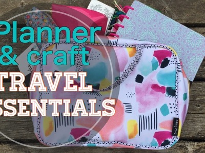 Craft & Planner Travel Essentials. What's in my bag | I'm A Cool Mom