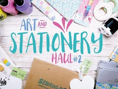 Craft & Stationery Haul (UK) 2016 (Scrawlr Box, Paint, Pencils, Notebooks Etc ) CUTE! - Miss Wah