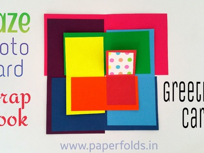 "Craft Tutorial to make ""Rainbow Maze Photo Card 