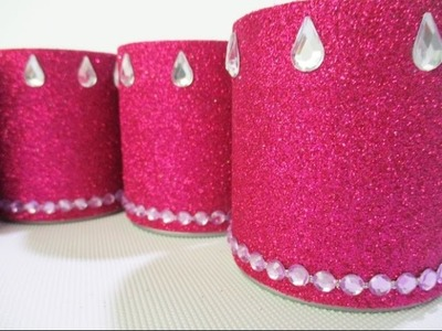 DIY : #134 Glamorous Holder - RECYCLED Potato Can ♥