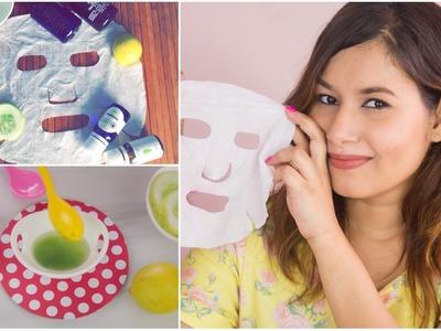 DIY Face Masks (Sheet Masks) | Sonal Sagaraya #DIYWithSonal