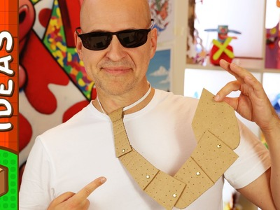 DIY Father's Day Crafts - Cardboard Tie | Craft Ideas for Kids on Box Yourself