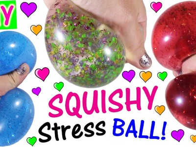 DIY Liquid GLITTER Squishy BALLS! Make Your Own Colorful Sparkly Stress Balls! FUN CRAFT