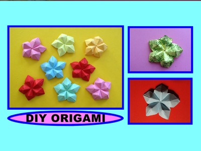 DIY ORIGAMI FLOWER, QUICK & EASY GIFT GUIDE FOR FRIENDS & FAMILY, SIMPLE IDEAS, mini BLUME ANLEITUNG