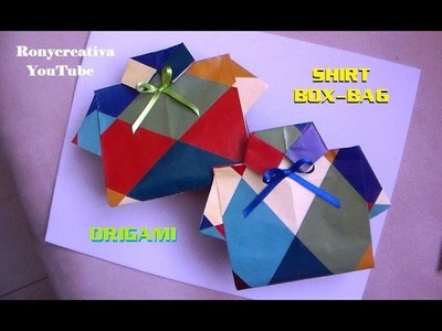DIY Shirt box-bag and card. Father´s Day craft.Ronycreativa English Channel