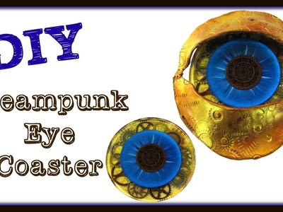 DIY Steampunk Eye Drink Coaster ~ Another Coaster Friday ~ Craft Klatch ~ How To