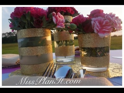 DIY : Tutorial Royal Pink Baby Shower Centerpiece For Under $20.00!