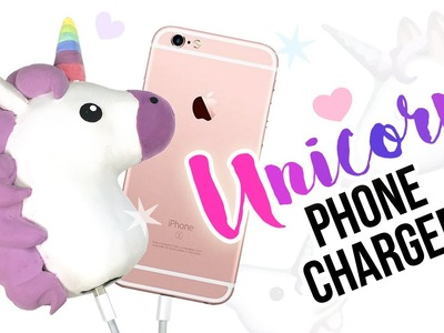 DIY Unicorn Phone Charger!! Make a Cute & Cheap DIY Unicorn Emoji!