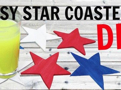 Easy Fourth of July Star Coasters DIY ~ Another Coaster Friday ~ Craft Klatch ~ How To