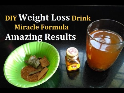 Fastest Way to Lose Weight Fast with Cinnamon and Honey Miracle DIY Weight Loss Drink