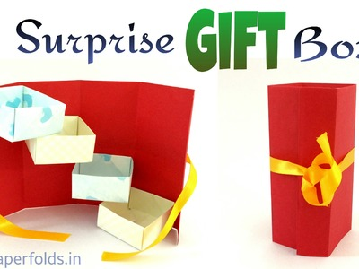 "How to make a Paper ""Surprise Tower Gift Box"" - Useful Origami. Craft Tutorial"