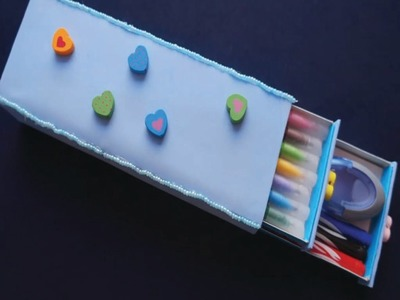 How to make pencil box- craft for kids - school craft